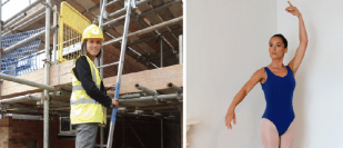 The builder who is also training as a ballet dancer