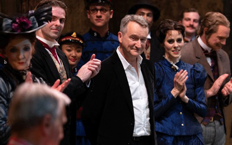David Bintley with Sir Peter Wright CBE at the final performance of Hobson's Choice